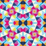 Abstrakter mehrfarbiger Kaleidoskophintergrund Stockfotos
