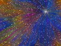Abstrakter mehrfarbiger sternenklarer Hintergrund vektor abbildung