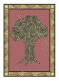 Abstrakter mehrfarbiger stilisierter Baum Vektor Stockfoto