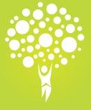 Abstrakter menschlicher Baum stock abbildung