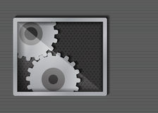 Abstrakter metallischer Hintergrund Lizenzfreies Stockfoto