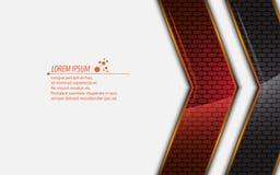 Abstrakter metallischer Hintergrund des modernen Designs des Rechtecks des Vektors lizenzfreie abbildung