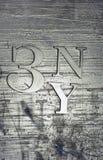 Abstrakter metallischer Hintergrund mit Zeichen Stockfotografie