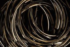 Abstrakter Metallkreis Stockbild