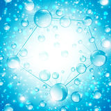 Abstrakter Mikrobiologie-Zellen-Hintergrund Lizenzfreie Stockfotografie