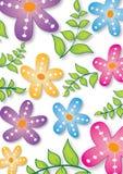 Abstrakter mit Blumenhintergrund Lizenzfreies Stockbild