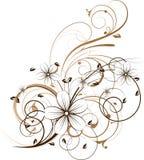 Abstrakter mit Blumenhintergrund vektor abbildung