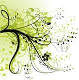 Abstrakter mit Blumenhintergrund Lizenzfreie Stockfotos