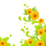 Abstrakter mit Blumenhintergrund Stockfoto
