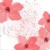 Abstrakter mit Blumenhintergrund Stock Abbildung