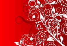 Abstrakter mit Blumenhintergrund, Vektor Lizenzfreies Stockfoto