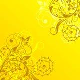 Abstrakter mit Blumenhintergrund, Vektor Lizenzfreie Stockfotos