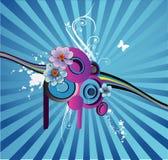 Abstrakter mit Blumenvektor Stockbild