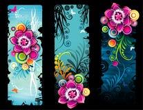 Abstrakter mit Blumenvektor Lizenzfreie Stockfotografie