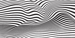 Abstrakter mobious vibrierender optischer Hintergrund des Wellenvektors Stockfoto