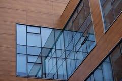 Abstrakter moderner Gebäudehintergrund Stockfotos