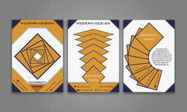 Abstrakter moderner Geschäfts-Flieger, Broschüre, Plakat, Jahresbericht, Titelseiten-Vektor-Schablone in der purpurroten, orange  Lizenzfreie Stockbilder