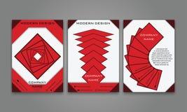 Abstrakter moderner Geschäfts-Flieger, Broschüre, Plakat, Jahresbericht, Titelseiten-Vektor-Schablone in der purpurroten, orange  Lizenzfreie Stockfotografie