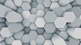 Abstrakter moderner Hexenoberflächenhintergrund Blaue sechseckige Illustration 3D vektor abbildung