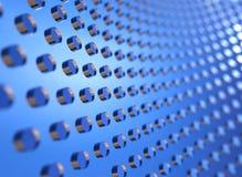 Abstrakter moderner Hintergrund mit blauen Kreisen Stockbild