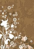 Abstrakter moderner Hintergrund mit Blumenelementen, Vektorillustra lizenzfreie abbildung