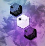 Abstrakter moderner Pixelhintergrund Lizenzfreie Stockfotos