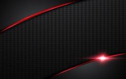 Abstrakter moderner roter silberner Stahlrahmen-Plandesign-Schablonenhintergrund stock abbildung