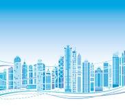 Abstrakter moderner Stadtlandschaftshintergrund Stockfoto