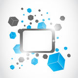 Abstrakter moderner Tablettecomputer Stockfoto