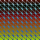 Abstrakter moderner ursprünglicher Hintergrund mit Dreiecken mit gerundeten Ecken in Schwarzem und Rot und Gelb Weinlese-Mode-geo Stockbild