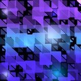 Abstrakter moderner ursprünglicher Hintergrund mit lichtdurchlässigen Dreiecken Geometrisches helles Design der Mode Auch im core Stockbild
