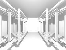 Abstrakter moderner weißer Architektur-Hintergrund Lizenzfreies Stockbild