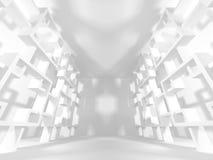 Abstrakter moderner weißer Architektur-Hintergrund Lizenzfreie Stockfotos