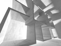 Abstrakter moderner weißer Architektur-Hintergrund Stockbilder