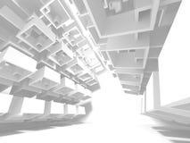 Abstrakter moderner weißer Architektur-Hintergrund Stockfoto
