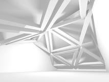 Abstrakter moderner weißer Architektur-Hintergrund Stockfotografie
