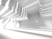 Abstrakter moderner weißer Architektur-Hintergrund Stockbild