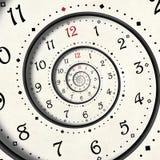 Abstrakter moderner Weißspiralenuhr-Hintergrund Fractal Verdrehter ungewöhnlicher abstrakter Fractal Beschaffenheit der Uhruhr Su stock abbildung