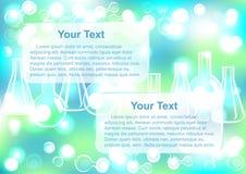 Abstrakter Molekülenden-Reagenzglashintergrund Lizenzfreie Stockbilder
