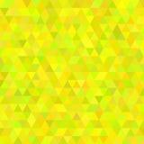 Abstrakter Mosaikhintergrund gelber geometrischer Kubikhintergrund Vier Schneeflocken auf weißem Hintergrund Vektor Stockfotografie