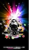 Abstrakter Musik-Disco-Flugblatt-Hintergrund Lizenzfreie Stockfotografie