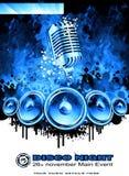 Abstrakter Musik-Flugblatt-Hintergrund Stockfoto