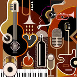 Abstrakter Musik-Hintergrund Stockbild