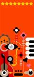 Abstrakter Musik-Hintergrund Stockfoto