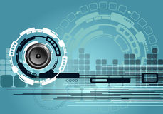 Abstrakter Musik-Technologie-Hintergrund stock abbildung