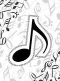 Abstrakter musikalischer Hintergrund Stockbilder