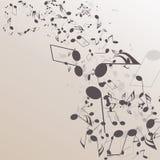 Abstrakter musikalischer Hintergrund Stockfotografie