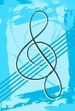Abstrakter musikalischer Hintergrund bunt Stockfotografie