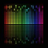 Abstrakter Musikentzerrer stock abbildung