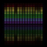 Abstrakter Musikentzerrer lizenzfreie abbildung